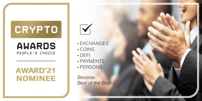 CryptoAwards.com - choose the best project, company, exchange and person in the industry!