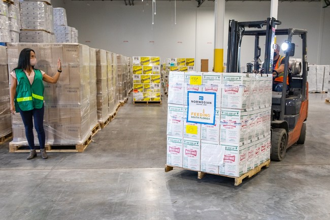 To date, Norwegian Cruise Line has donated more than 800,000 pounds of food to Feeding South Florida which helped reach thousands of families.