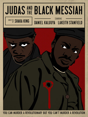 """""""Judas and the Black Messiah"""" by Nicole Dai/Shutterstock with artist inspiration from Emory Douglas"""