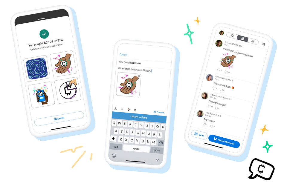 Customers using crypto on Venmo can choose from four types of cryptocurrency: Bitcoin, Ethereum, Litecoin and Bitcoin Cash. When they make transactions, customers can also choose to share their crypto journey with their friends through the Venmo feed.
