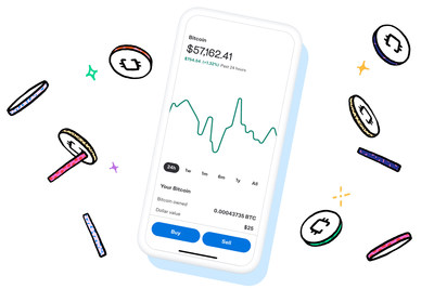 Customers can view cryptocurrency trends, buy or sell crypto, and access in-app guides and videos to help answer commonly asked questions and learn more about the world of crypto