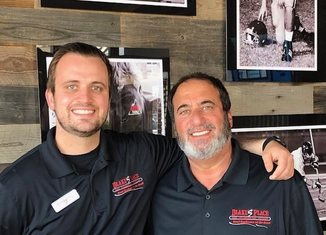 Owner Gene Hobel and his son Blake. When he opened the Cafe in 1996, Gene named the business after Blake who was six months old at the time..