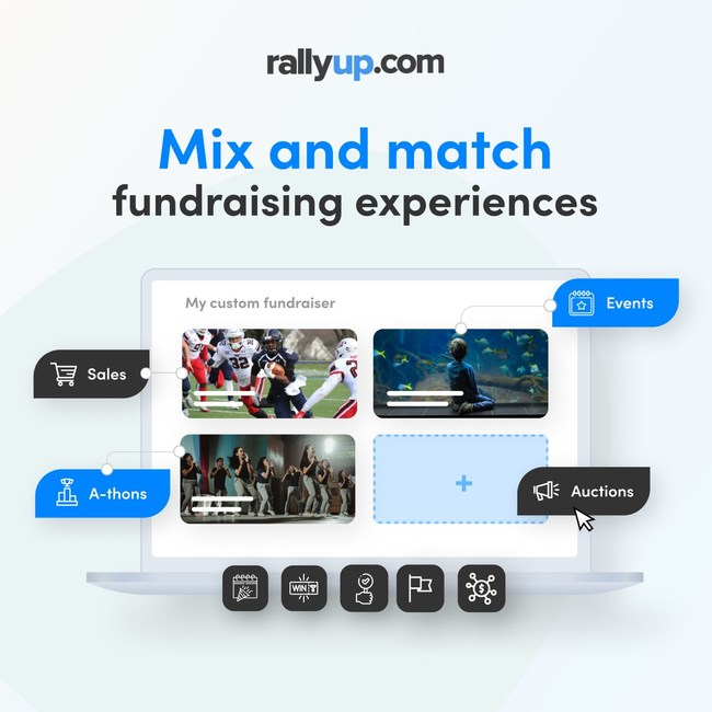 Mix-and-match allows creating interactive fundraising experiences that mimic real-life events.