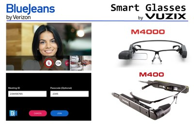 BlueJeans by Verizon now supports Vuzix M4000 and M400 Smart Glasses