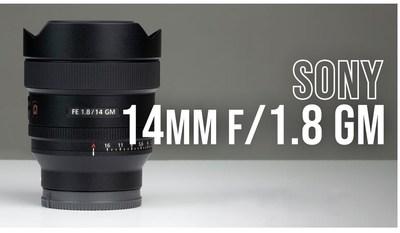 Sony 14MM F1.8 GM Lens - Ultra Fast, Compact, Light