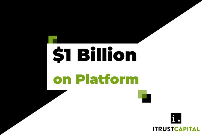 $1 Billion Dollars invested on iTrustCapital Crypto IRA Platform