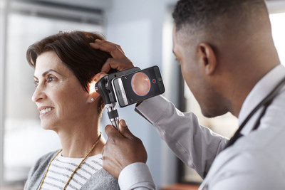 The new Welch Allyn MacroView Otoscope features a new, one-of-a-kind, LumiView clear ear speculum, with four times the brightness through an adult speculum when compared to a standard ear speculum. The MacroView Plus otoscope enables clinicians to move quickly from an optical exam to digital image capture. When used along with Hillrom's free iExaminer™ Pro App, clinicians can securely save and share ear images for tracking, trending and easy consultations with specialists.