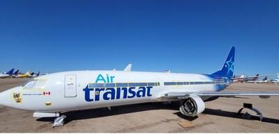 Le Boeing 737-800 du Groupe Chrono Aviation, appareil de nouvelle génération, appartenant anciennement à Air Transat, sera le premier du genre au Québec offert exclusivement en nolisement. (Groupe CNW/Chrono Aviation)