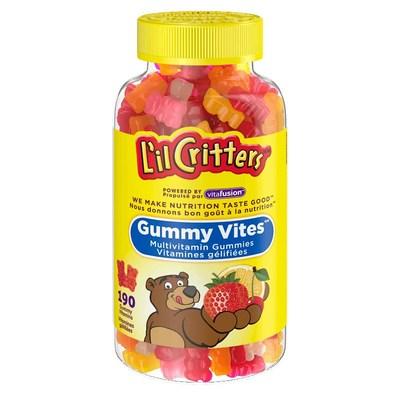 L'il Critters Gummy Vites Bouteille de 190 multivitamines (Groupe CNW/Santé Canada)