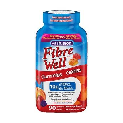 vitafusion Fibre Well  bouteille de 90 vitamines (Groupe CNW/Santé Canada)