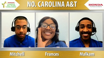 North Carolina A&T State University earned top honors at the 2021 Honda Campus All-Star Challenge (HCASC), America's premier academic competition between students from HBCUs.