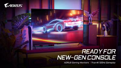 Os monitores para gaming AORUS 4K da GIGABYTE estão preparados para a nova geração de consoles