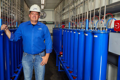 Mike Boyko, co-founder and COO of Tempe, Ariz.-based Dynamic Water Technologies, has spent his 30-year career working with companies that promote a healthier environment. The DWT water treatment system shown here uses electrolysis to clean the water, resulting in millions of gallons of saved water each year.
