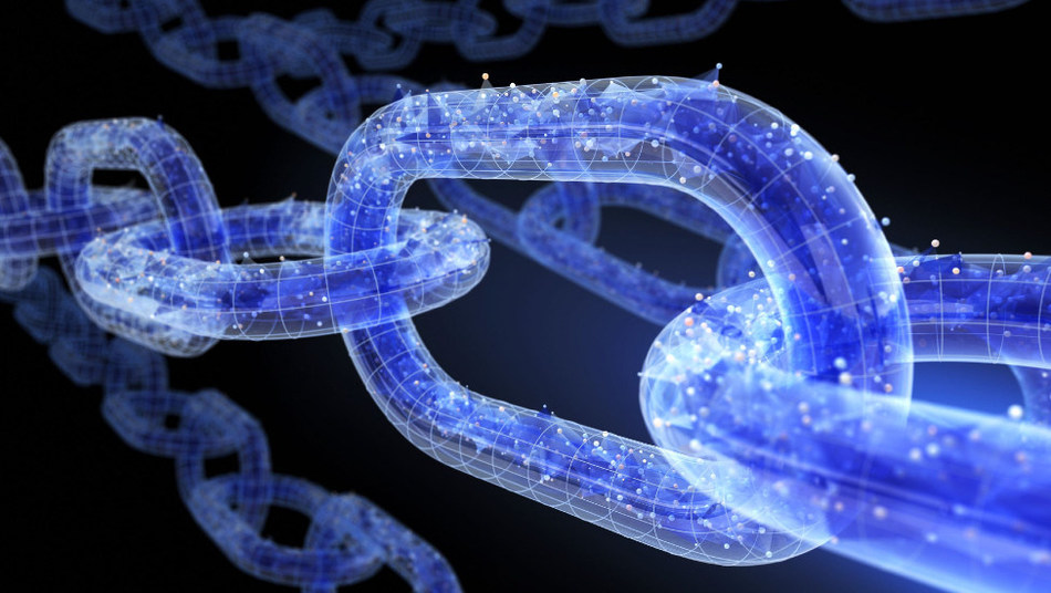 Chain links made up of electronic impulses