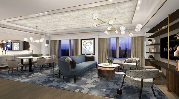 First phase of $170 million in guestroom and suite upgrades at Harrah's Resort Atlantic City and Caesars Atlantic City will debut Summer 2021