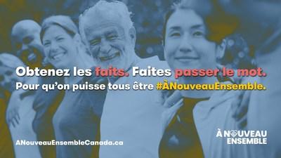 La campagne de sensibilisation #ÀNouveauEnsemble vise à combattre l'hésitation à se faire vacciner et à aider les Canadiens à prendre des décisions éclairées (Groupe CNW/Labatt Breweries of Canada)