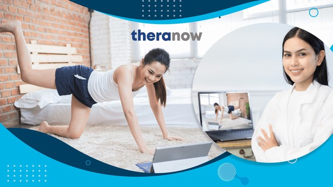 Using TheraNow, recovering patients can manage appointments for therapy sessions at home under the guidance of their physician or therapist. TheraNow provides personalized, prescribed one-on-one video therapy sessions with licensed therapists using their laptops or mobile device.