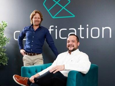 Drew Butler (left) and Daniel Sandaver, co-founders of self-funded tech start-up Codafication.