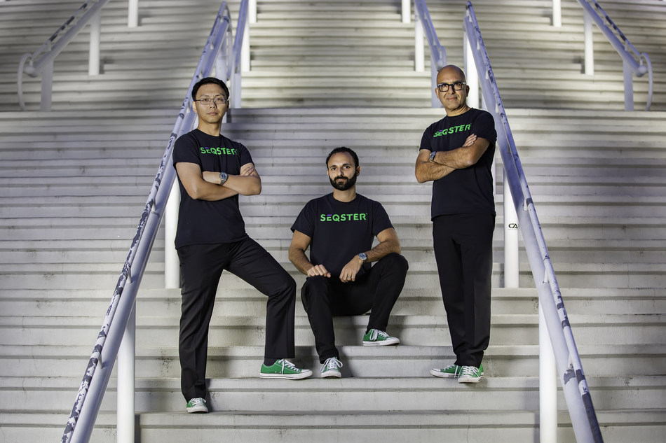 CEO - Ardy Arianpour (center) founded Seqster in 2016 along with biotech executives Dr. Xiang Li (left) and Dana Hosseini (right).
