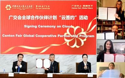 Feira de Cantão realiza eventos de assinatura on-line, ampliando o Programa de Parceria Cooperativa Global (PRNewsfoto/Canton Fair)