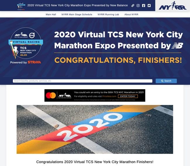 2020 Virtual TCS New York City Marathon Expo Presented by New Balance