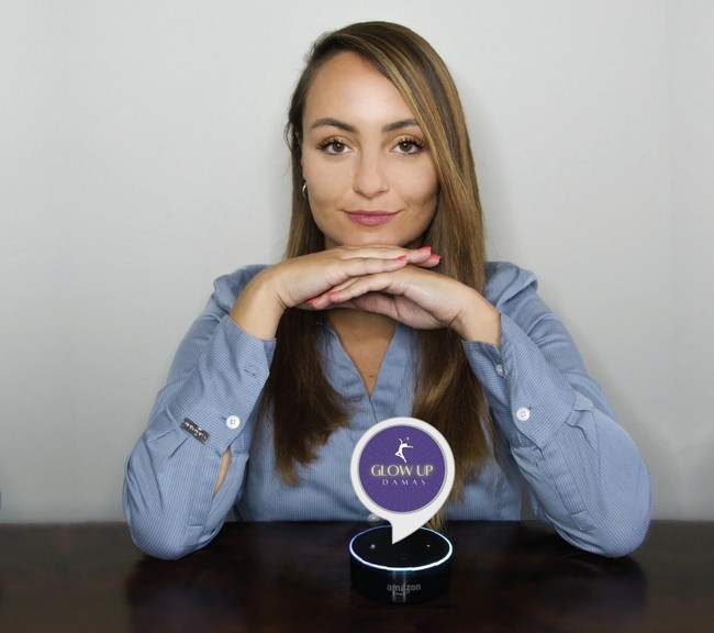 Danielle Vantini was named the top prize winner at the 2021 Global Innovation Summit for her Alexa voice application prototype *Glow Up, Damas*