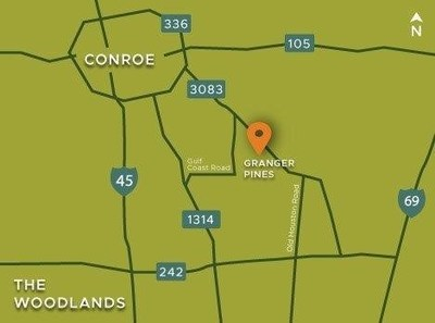 Granger Pines area map | Conroe, TX | Century Communities
