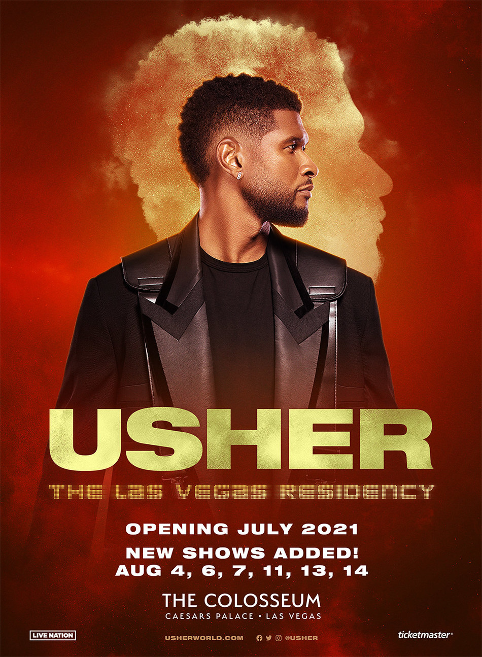 Usher Adds Six Dates To His Las Vegas Residency At The Colosseum At Caesars Palace