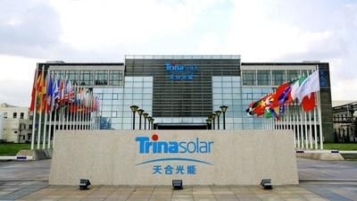 La foto muestra la construcción de Trina Solar Co., Ltd. (PRNewsfoto/Xinhua Silk Road)