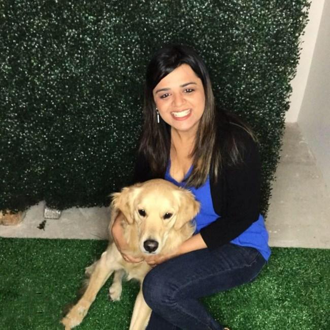 Rashi Arora with her puppy Sammy