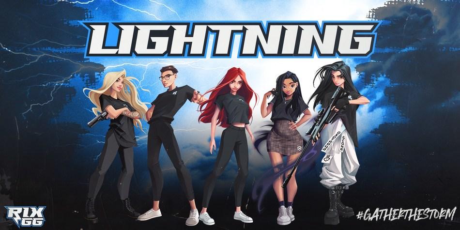 "Rix.GG announces ""Lightning"" VALORANT Roster (PRNewsfoto/Rix.GG)"
