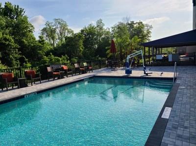 Cambria Hotel Orlando Airport Pool and Patio Area