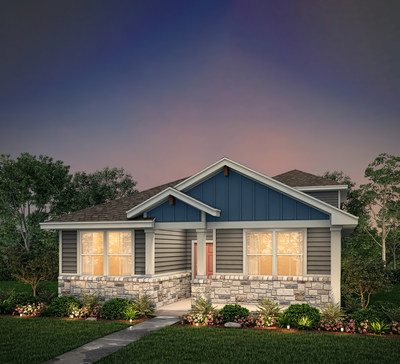 Caption: The Knox floor plan by Century Communities | Model for tour at Deerbrooke in Leander, TX