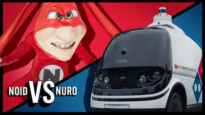 The Noid is Domino's oldest and most famous villain, and Nuro's R2 robot has provoked the antihero's return.