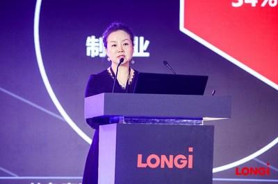 Niu Yanyan, diretor do departamento de gestão de GD da LONGi Solar (PRNewsfoto/LONGi Solar)