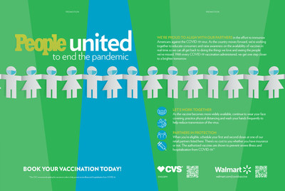 PEOPLE United to End the Pandemic: Promotional campaign partnering with CVS Health and Walmart for World Immunization Week.