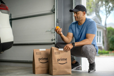 myQ users can now receive grocery orders from Amazon Fresh and Whole Foods Market securely inside their garage.