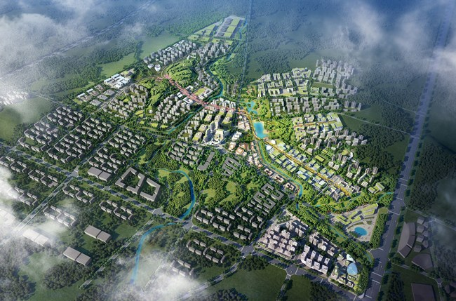 """The master concept for Meishan California Smart City was created by AECOM, a world leader in smart city design, integrated infrastructure, and sustainable building. The AECOM design incorporates greenspace throughout the site, focused on the optimal work-life palette for residents. The MCSC slogan """"Smart Made Smarter"""" comes from its use of technology allowing iteration as updates occur, such that the entire development uses those advancements for continuous improvement and enhanced efficiency."""