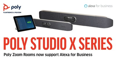 The Poly Studio X Series with TC8 touch interface and G7500 video conferencing system are the latest certified Zoom Rooms Appliances to support the Alexa for Business voice-activated meeting room experience.