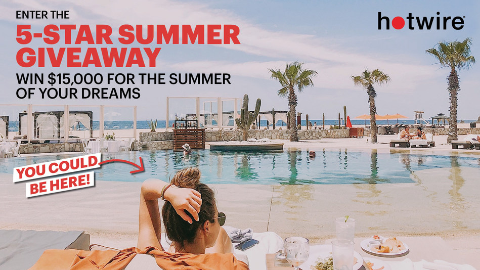 Hotwire is treating one travel-ready American to a summer filled with five-star hotel stays! Enter to win a Five-Star Summer today.