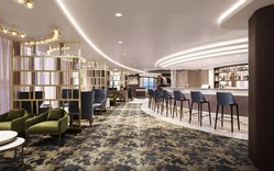 As part of Norwegian Epic's recent refurbishment, The Haven Lounge, the private bar for Haven guests, was redesigned to offer a more upgraded experience.