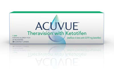 ACUVUE® Theravision™ with Ketotifen is the world's first and only drug-releasing contact lens for vision correction and allergic eye itch. (CNW Group/FYidoctors)