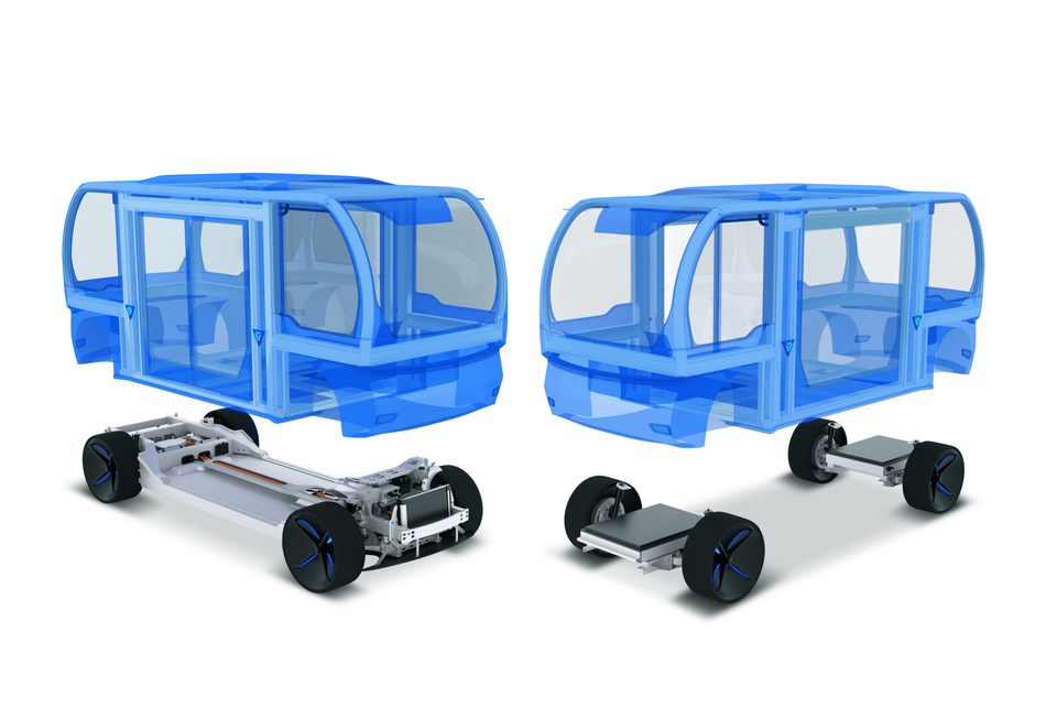 The modular design of BENTELER's people mover platform shortens the time to market for mobility providers. (PRNewsfoto/BENTELER)