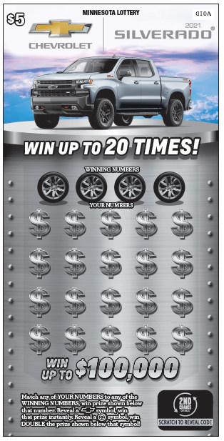 Minnesota Lottery's Chevrolet® Silverado® ticket (CNW Group/Pollard Banknote Limited)