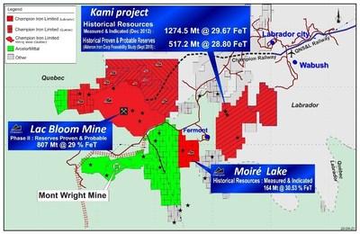 Acquisition du projet Kami (Groupe CNW/Champion Iron Limited)
