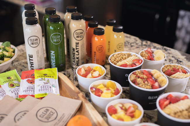"""""""We are extremely proud of our continued growth, which we view as a true testament to how well our premium organic and healthy products integrate into our guests' changing tastes and preferences,"""" said Landon Eckles, CEO, Clean Juice. """"Our guests continue to demand access to truly healthy and delicious food and beverage products are served with smiles and speed."""""""