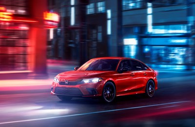 Honda today revealed the most fun-to-drive and technologically advanced Civic Sedan in the model's nearly 50-year history. The all-new 2022 Honda Civic boasts a clean, modern design paired with a high-tech, human-centered interior, and equipped with advanced active and passive safety systems. Previewed in November 2020 in prototype form, the 11th-generation Civic continues the tradition of innovation, design leadership and class-leading driving dynamics.