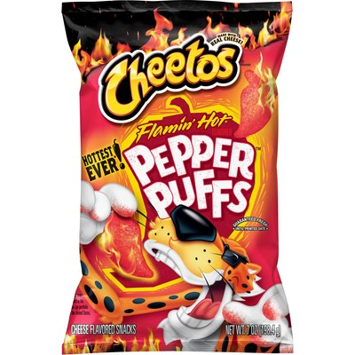 Cheetos Flamin' Hot Spicy Pepper Puffs