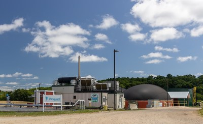 A Vanguard Renewables anaerobic digester recycles greenhouse gas-producing organic waste into renewable energy on a Massachusetts farm.
