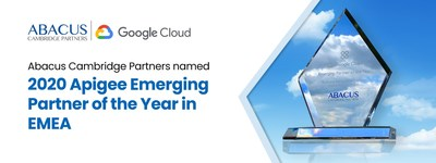 Abacus Cambridge Partners named 2020 Apigee Emerging Partner of the Year in EMEA